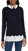 Ted Baker Women's Suzaine Embellished Layered Look Sweater