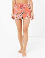 Marks and Spencer Cotton Tropical Floral Print Shorts