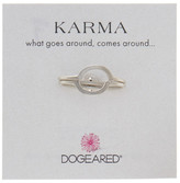 Dogeared Sterling Silver Karma Half Round Rings - Set of 2
