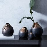 west elm Black Metallic Vases