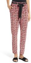 Joie Women's Julietta Floral Silk Tie Waist Pants