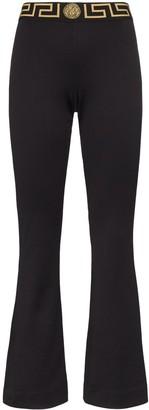 Versace logo-waist track trousers