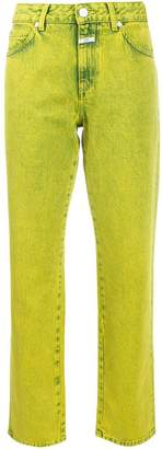 Closed colour block straight leg jeans