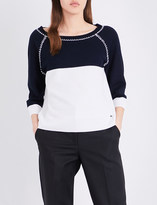 St. John Honeycomb Tuck knitted top