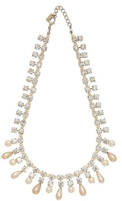 Alessandra Rich Crystal And Faux-pearl Necklace - Womens - Crystal