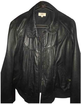 Gerard Darel Black Leather Jacket for Women