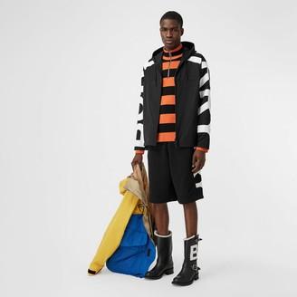 Burberry ogo Print Shape-memory Taffeta Hooded Jacket