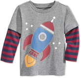 First Impressions Baby Boys' Layered-Look Graphic-Print T-Shirt, Only at Macy's