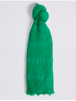 M&S Collection Chenille Striped Scarf