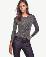 Ann Taylor Heathered Long Sleeve Tee