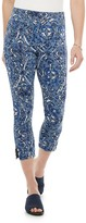 Utopia By Hue Women's Utopia by HUE High Rise Flawsome Denim Dutch Floral Capri Leggings
