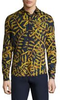 Vilebrequin Gold Palms Cotton Shirt