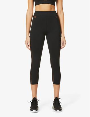 Good American Caprii mesh-panel high-waist stretch-jersey leggings