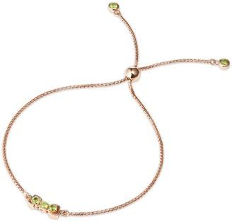 Tsai X Tsai San Shi Peridot Bracelet 18 Ct Rose Gold Vermeil