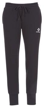 Converse STAR CHEVRON EMBROIDERED SIGNATURE PANT women's Sportswear in Black