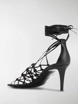 Stella McCartney Lace-Up Lattice Sandals