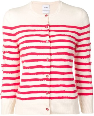 Barrie Cashmere Striped Cardigan