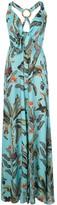 PatBO tropical halter maxi dress