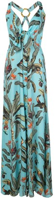 PatBO Tropical Halter Maxi Dress