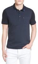 Ben Sherman Men's Textured Tip Jersey Polo