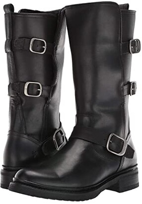 Frye Veronica Shearling Mid (Black) Women's Boots
