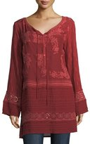 Johnny Was Leafly Tiered Popover Tunic, Plus Size