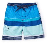 Kanu Surf Navy Viper Stripe Swim Trunks - Toddler & Boys