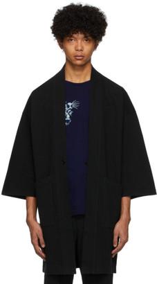 Blue Blue Japan Black Firm Jersey Hanten Jacket