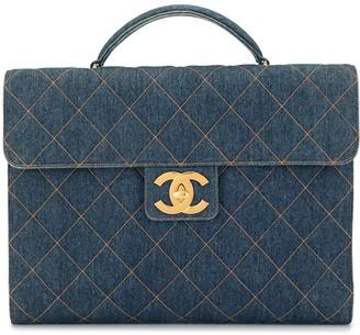 Chanel Pre Owned 1997 Wild stitch briefcase