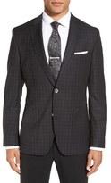 BOSS Men's 'Janson' Trim Fit Plaid Wool Sport Coat