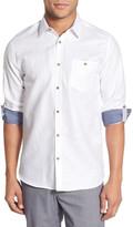 Ted Baker &Linoo& Modern Slim Fit Linen Blend Sport Shirt
