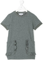 Simonetta round neck sweat dress - kids - Cotton/Elastodiene - 4 yrs