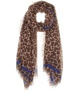 Lenora Leopard print scarf