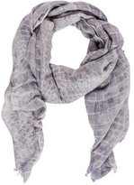Barbara Bui Alligator Printed Silk-Blend Scarf