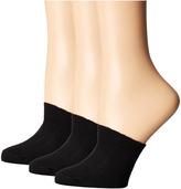 Hue Cotton Toe Topper 3-Pack Women's No Show Socks Shoes