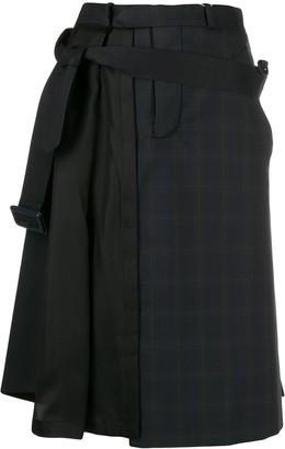 Maison Margiela Asymmetric Pleat Detail Skirt