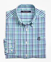 Brooks Brothers Seersucker Plaid Sport Shirt