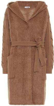 Max Mara Large wool-blend belted cardigan