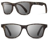 Shwood Women's 'Canby - Feather' 55Mm Feather & Wood Sunglasses - Osprey Feather/ Grey Polar