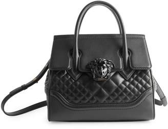 Versace Palazzo Quilted Leather Top Handle Bag