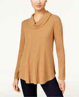 Style&Co. Style & Co. Ribbed Cowl-Neck Knit Top, Only at Macy's
