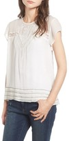 Hinge Women's Embroidered Lace Yoke Top