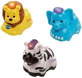 Vtech Toot-Toot Animals 3 Pack Elephant, Zebra and Lion