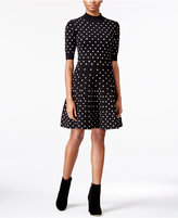 Rachel Roy Polka-Dot Fit & Flare Dress