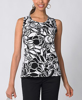 Floral-Printed Jersey Tank