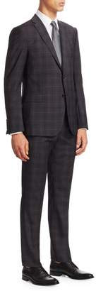 Emporio Armani M Line Prince Of Wales Windowpane Suit