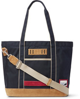 MASTERPIECE Suede-trimmed Nylon Tote Bag