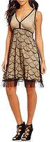 M.S.S.P. Scalloped Lace A-Line Sleeveless Dress