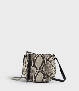 AllSaints Sliver Suede Mini Round Crossbody Bag