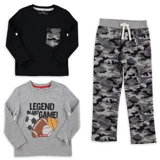 Freestyle Revolution Freestyle Boys Awesome Long Sleeve T-Shirt, Solid Long Sleeve T-Shirt & Track Pants, 3-Piece Outfit Set, Sizes 4-7